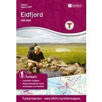 Nordeca Turkart Wandelkaart 2677 Eidfjord