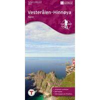 Nordeca Turkart Wandelkaart 2812 Vesteralen - Hinnoya Nord