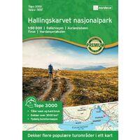 Nordeca Wandelkaart 3001 Hallingskarvet Nationaal Park