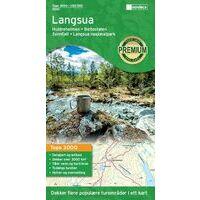 Nordeca Wandelkaart 3002 Langsua Nationaal Park