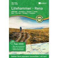 Nordeca Wandelkaart 3008 Lillehammer - Rena