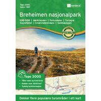 Nordeca Wandelkaart 3011 Breheimen Nasjonalpark