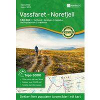 Nordeca Wandelkaart 3014 Vassfaret - Norefjell