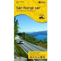 Nordeca Wegenkaart Zuid-Noorwegen Zuid 1:500.000