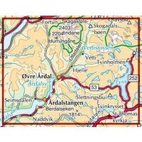 Nordeca Turkart Wandelkaart 2531 Årdal