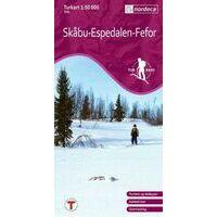 Nordeca Turkart Wandelkaart 2561 Skabu-Espedalen-Fefor