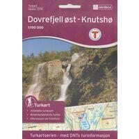 Nordeca Turkart Wandelkaart 2710 Dovrefjell Oost - Knutsho