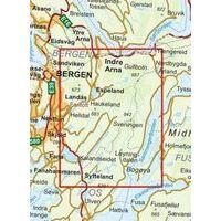 Nordeca Turkart Wandelkaart 2713 Gullfjellet