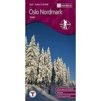 Nordeca Turkart Wandelkaart 2425 Oslo Nordmark Winter