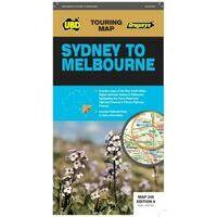UBD Maps Australia Wegenkaart Sydney To Melbourne
