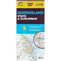 UBD Maps Australia Queensland State & Suburban 1:2,6M