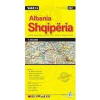 Vektor Maps Wegenkaart Albanië
