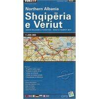 Vektor Maps Wegenkaart Albanie Noord 1:200.000