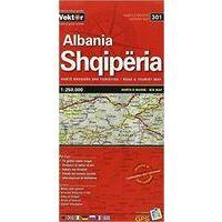 Vektor Maps Wegenkaart Albanie 1:250.000