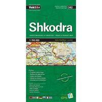 Vektor Maps Wegenkaart 382 Shkodra Prefectuur