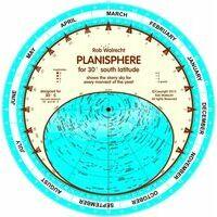 Walrecht Planisferen Planisfeer Voor 30 Graden ZB - Engels