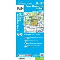 IGN Wandelkaart 2741et St-Hippolyte-du-Fort