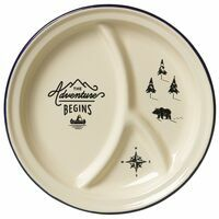 Wild & Wolf Enamel Divided Plate Fonduebord Emaille