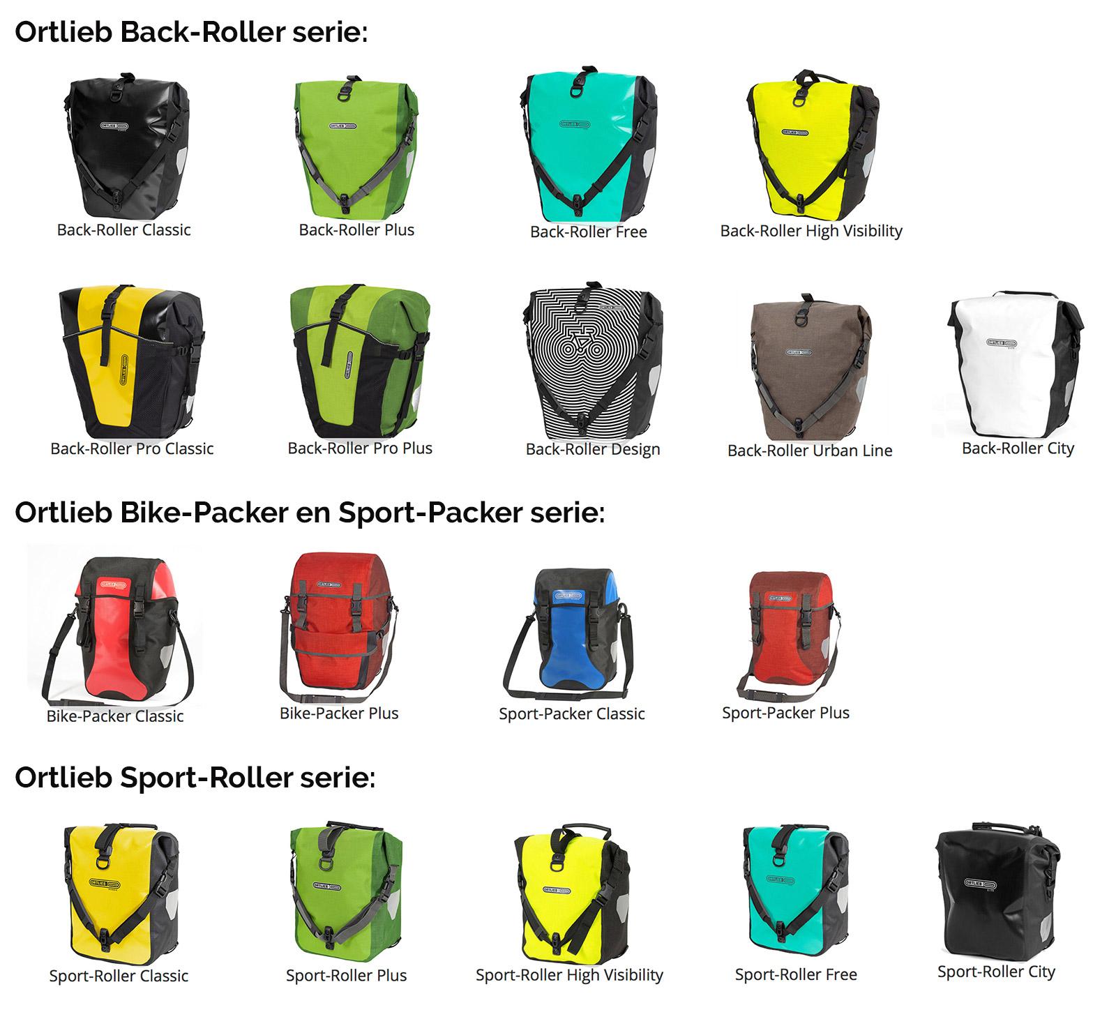 e5fd8c1275c Ortlieb fietstassen kunnen op verschillende bagagedragers gemonteerd  worden. Ortlieb maakt tassen met veschillende Quick-Lock (QL) systemen.
